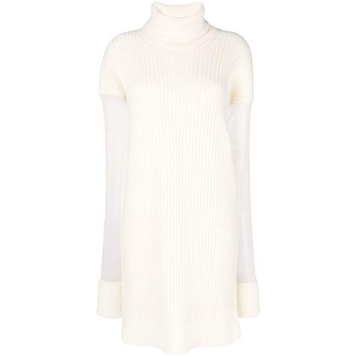 e30557659b9 ... Vestido jersey de punto blanco de Maison Margiela ...