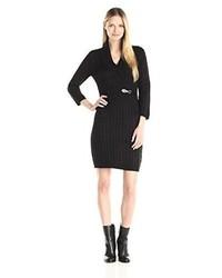 Vestido jersey de punto negro de Calvin Klein