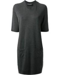Vestido jersey en gris oscuro de Dolce & Gabbana