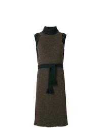 Vestido jersey en marrón oscuro de Maison Margiela
