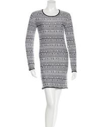 Vestido Jersey Estampado Blanco de Helmut Lang