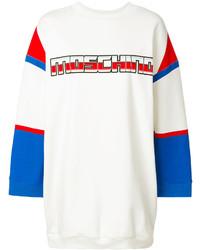 Vestido jersey estampado blanco de Moschino
