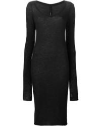 Vestido jersey negro de Isabel Benenato