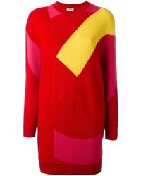 Vestido jersey rojo de Kenzo