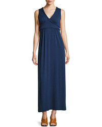 Vestido largo azul marino