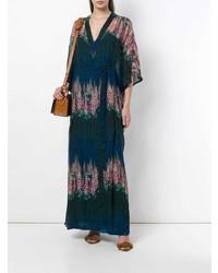 Vestido largo con print de flores en multicolor de AILANTO