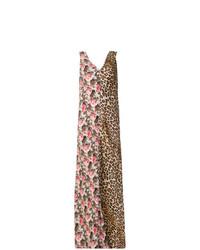 Vestido largo con print de flores en multicolor de Alberto Biani