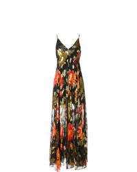 Vestido largo con print de flores en multicolor de Haney