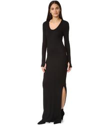 Vestido Largo con Recorte Negro de L'Agence