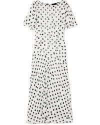 Vestido largo de gasa blanco