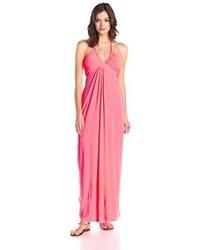 Vestido Largo de Gasa Rosa de Misa