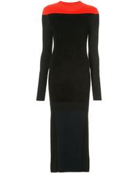 Vestido largo de lana negro