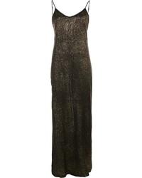 Vestido largo de seda negro de RtA