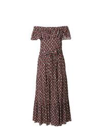 4653a465b0 Comprar un vestido largo estampado negro  elegir vestidos largos ...