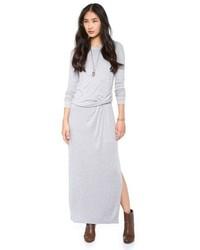 Vestido largo gris