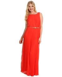 Vestido largo naranja original 1401819