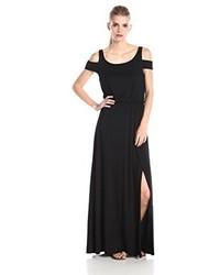 Vestido largo negro de Three Dots