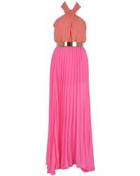 Vestido Largo Rosa de Choies
