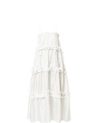 Vestido midi a lunares blanco de Georgia Alice