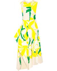 Vestido midi amarillo original 9933622