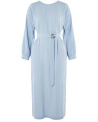 Vestido midi celeste original 9943257