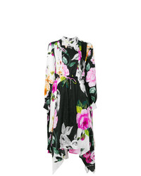Vestido midi con print de flores negro de Off-White