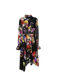 Vestido midi con print de flores negro de Preen by Thornton Bregazzi