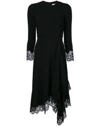 Vestido midi de encaje negro de Givenchy