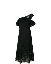 Vestido midi de encaje negro de Three floor