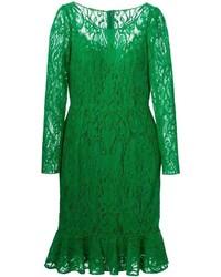 Vestido midi de encaje verde de Dolce & Gabbana