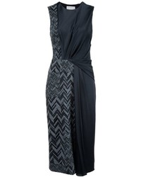 Vestido midi de lana negro