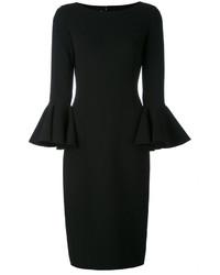 Vestido Midi de Lana Negro de Michael Kors
