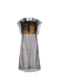 Vestido midi de malla negro de Calvin Klein 205W39nyc