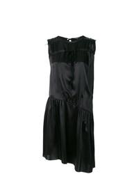 Vestido Midi de Satén Negro de Ann Demeulemeester