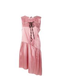Vestido midi de satén rosado de Ann Demeulemeester