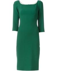 Vestido midi de seda verde de Dolce & Gabbana