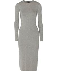 Vestido midi gris