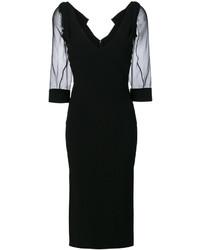 Vestido midi negro de Dsquared2