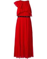 Vestido Midi Plisado Rojo de Giamba