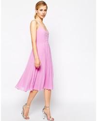 Vestido midi rosado