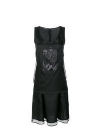 Vestido midi tejido negro de Neil Barrett