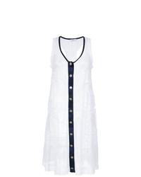Vestido playero de encaje blanco de Amir Slama
