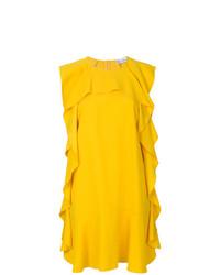Vestido recto amarillo de RED Valentino