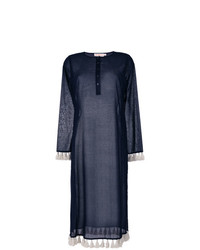 Vestido recto azul marino de Tory Burch
