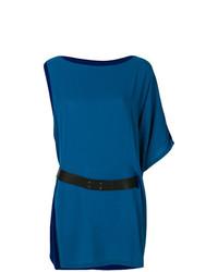 Vestido recto azul de Hermès Vintage