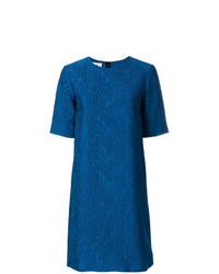 Vestido recto azul de Marni