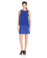 Vestido recto azul de StyleStalker