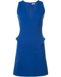 Vestido recto azul de Thierry Mugler