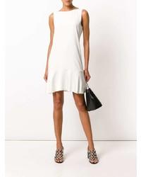 Vestido recto blanco de Theory