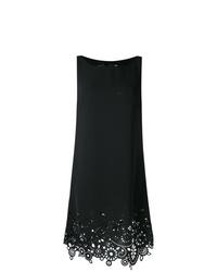 Vestido recto bordado negro de Love Moschino